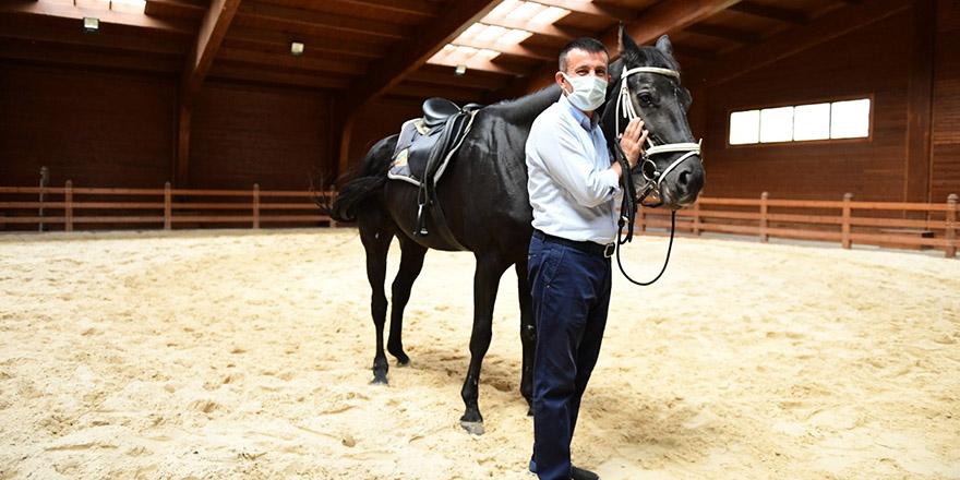 Altındağ'da neşe dolu at çiftliği