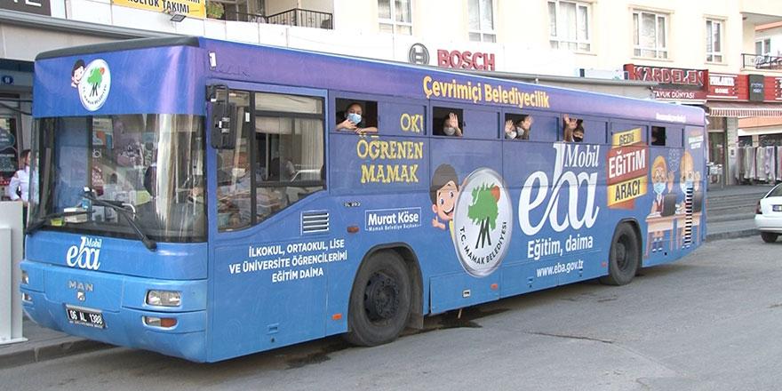 Mobil EBA otobüsü Mamaklı öğrencilerin hizmetinde