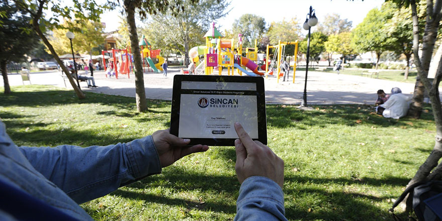 Sincan'da ücretsiz wi-fi hizmeti yaygınlaşıyor