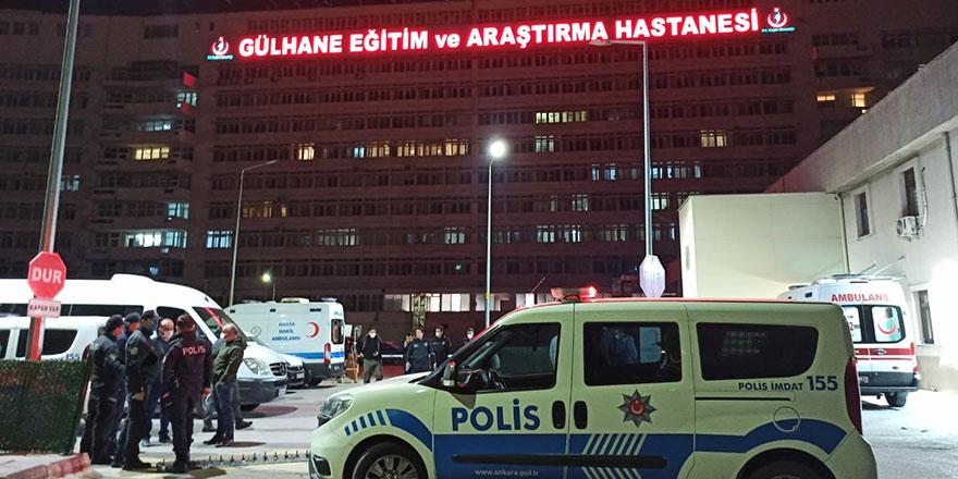 Başkent'te hastaneye taşlı saldırı