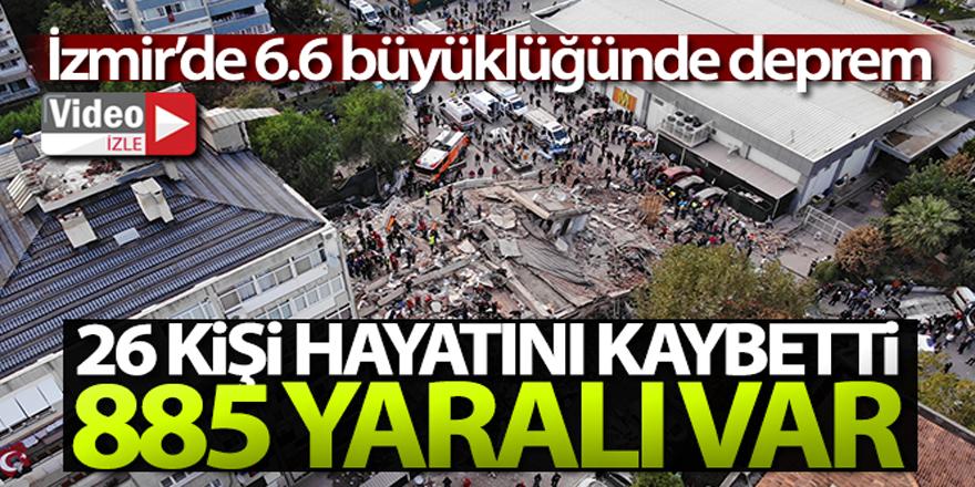 İzmir depreminde can kaybı 26 oldu, 885 kişi yaralı