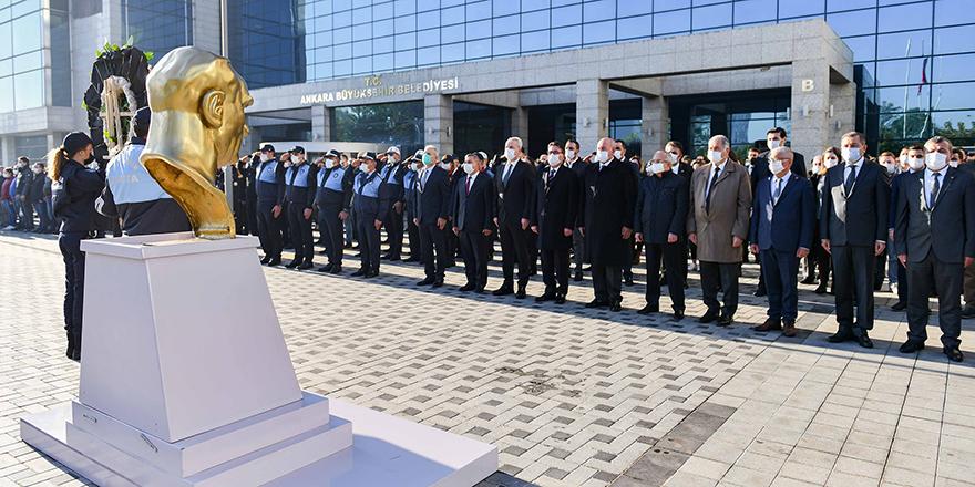 Başkent Ankara 10 Kasım'da tek yürek oldu