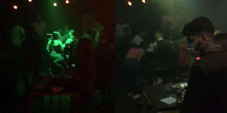 Kaçak gece kulübüne korona baskını
