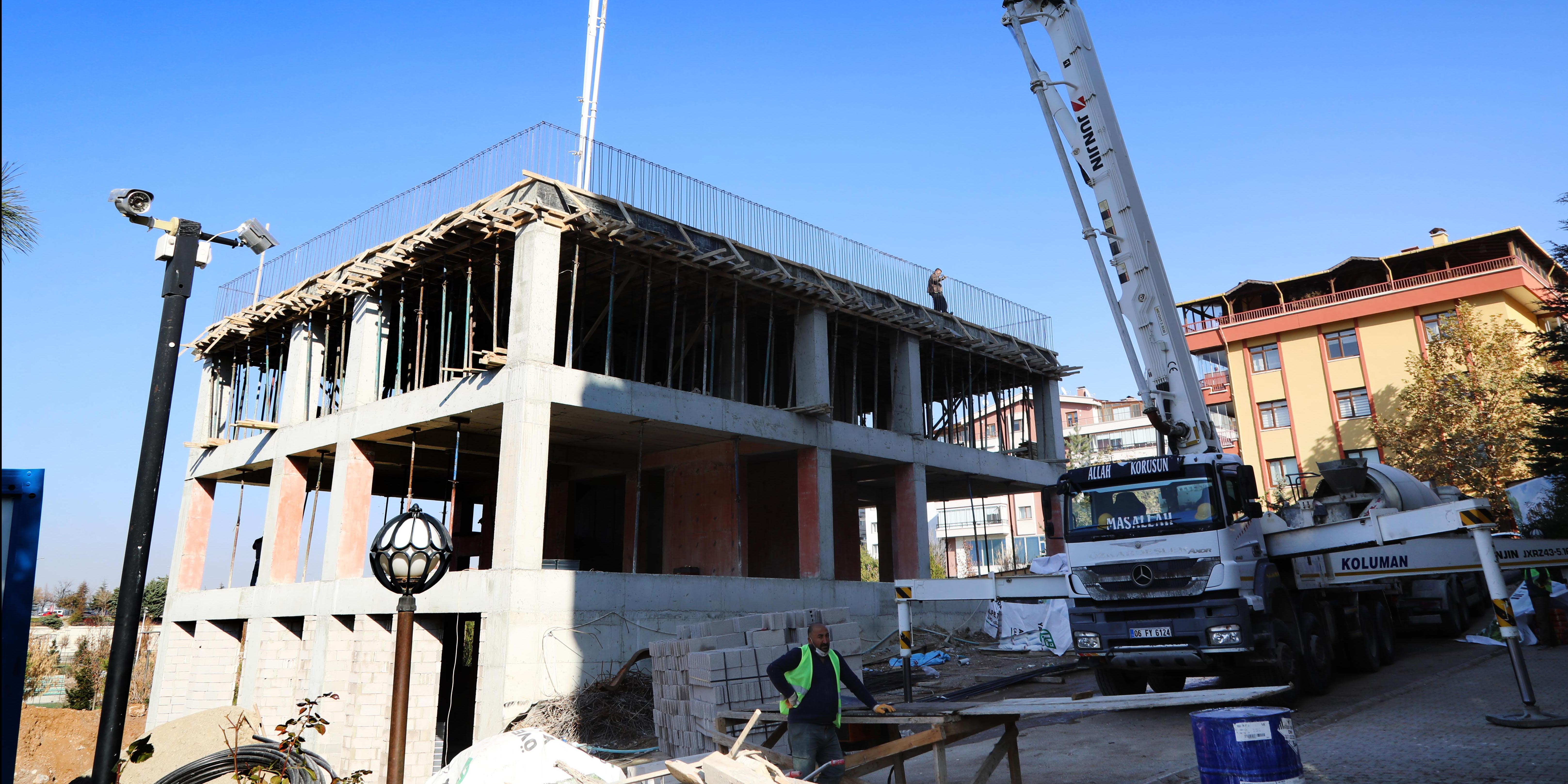 Öveçler Çankaya Evi'nin çalışmaları devam ediyor