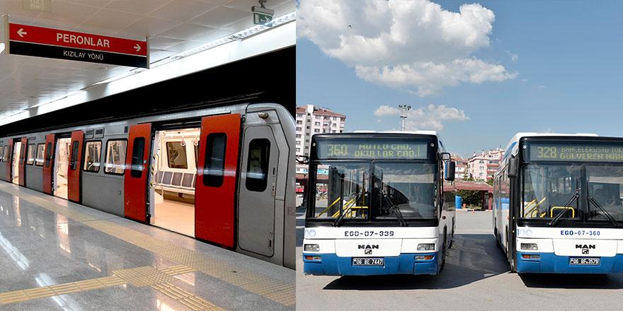 Ankara'da toplu ulaşıma yeni düzenleme