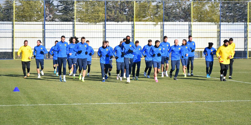 Ankaragücü'nde tempolu antrenman