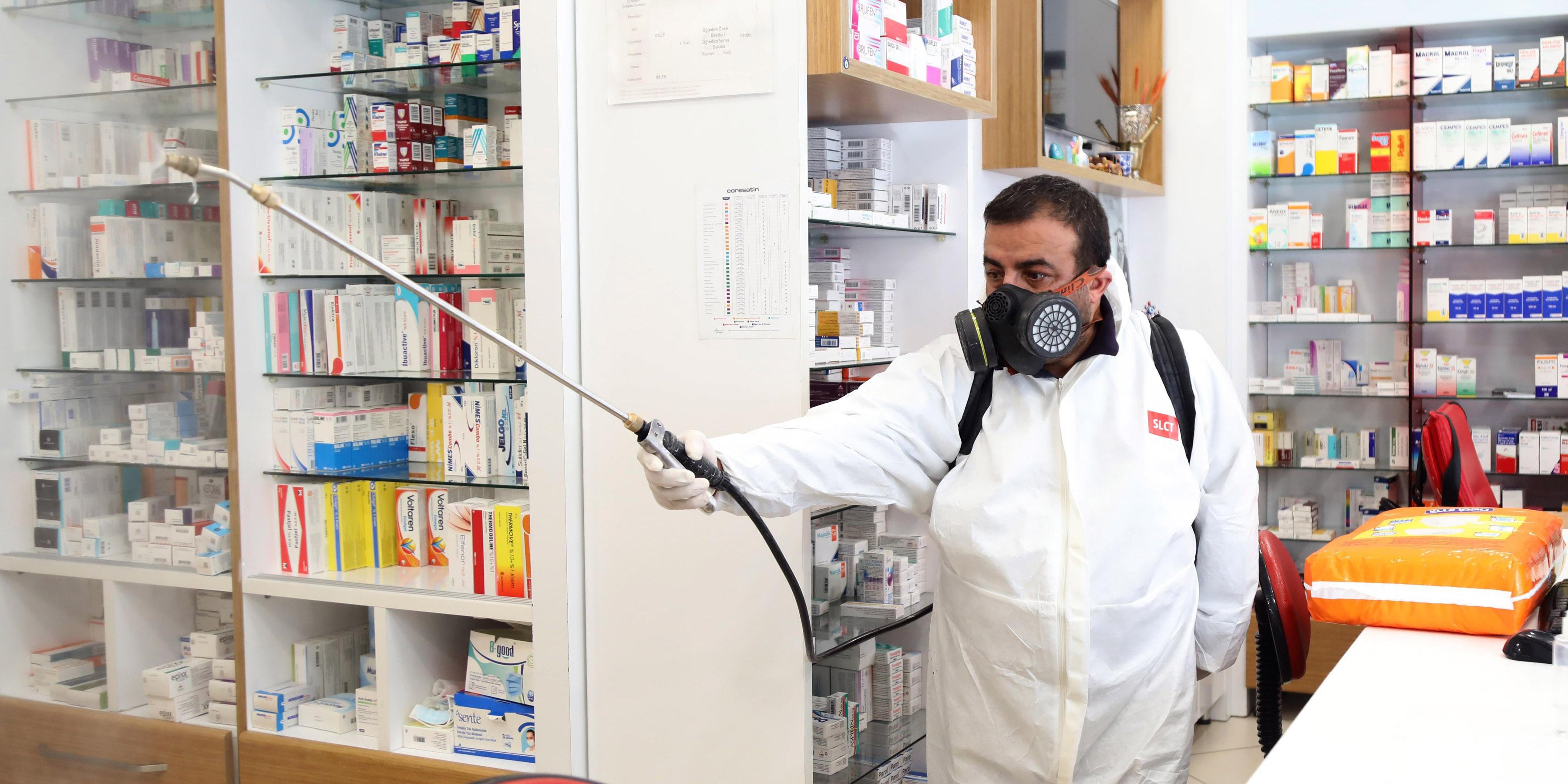 Çankaya Belediyesi'nden dezenfekte çalışması