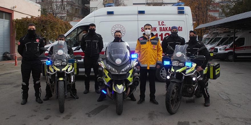 Motosiklet Ambulanslar zamanla yarışıyor
