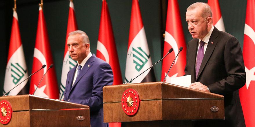 Cumhurbaşkanı Erdoğan, Irak Başbakanı Kazımi'yi ağırladı