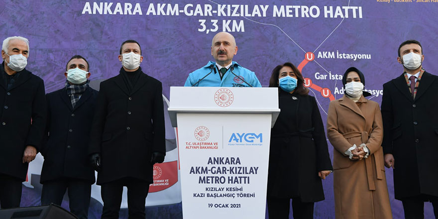 AKM-Gar-Kızılay Metrosu 2022'de açılıyor