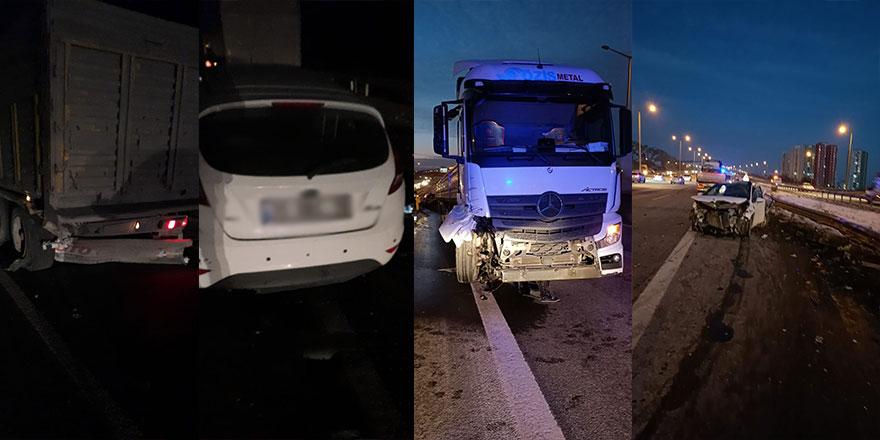 Ankara'da 2 ayrı trafik kazası