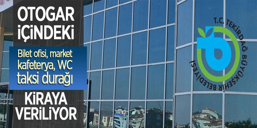 Malkara Otogarı'ndaki 11 işyeri kiralanıyor
