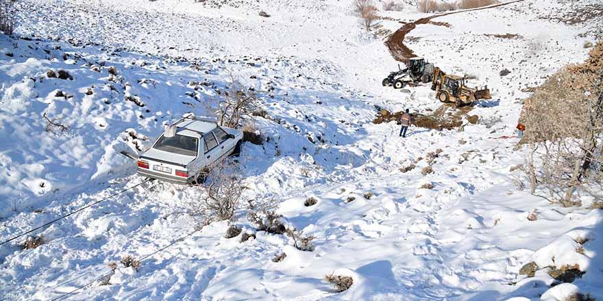 Mahsur kalan aracı Mamak Belediyesi kurtardı