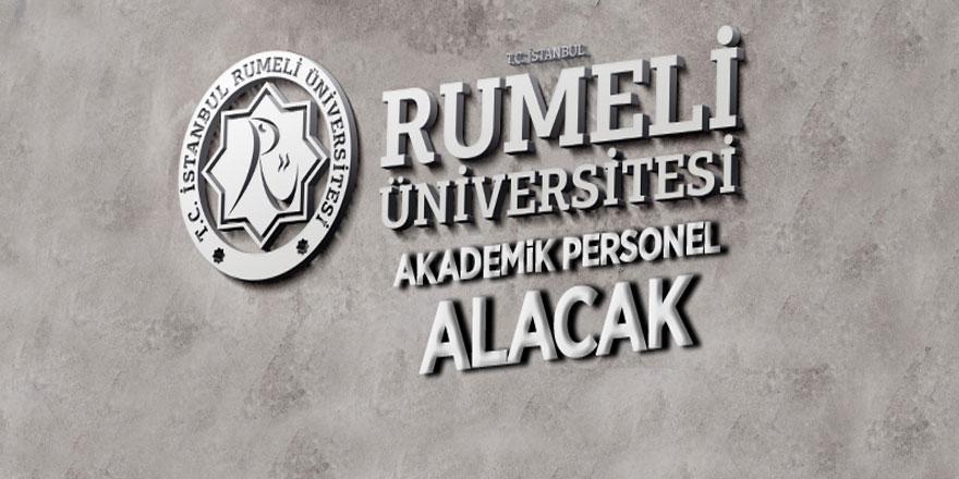 İstanbul Rumeli Üniversitesi 26 akademik personel alacak