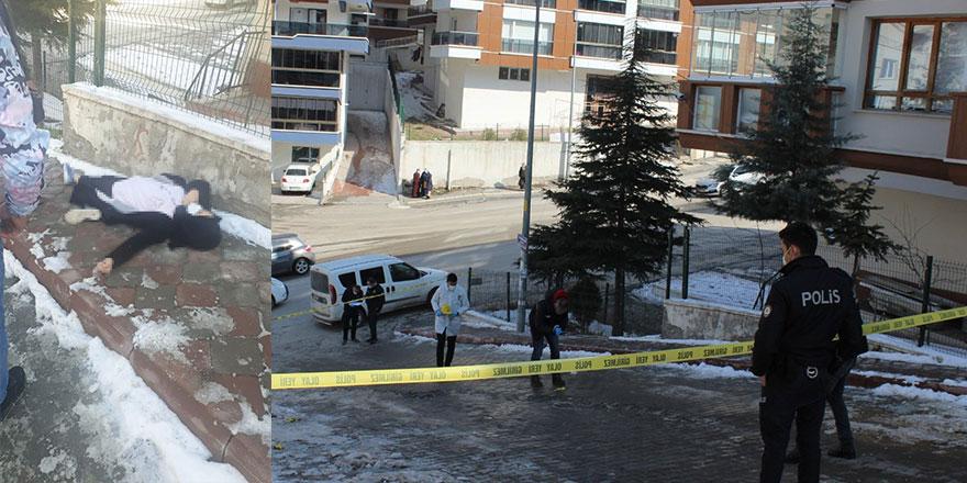 Ankara'da sokak ortasında kadın cinayeti