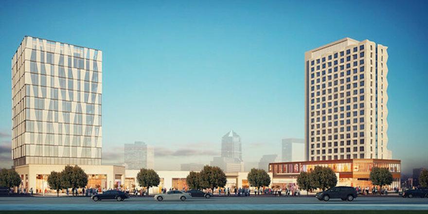 Ticari alanlar ve 5 yıldızlı otel kiraya verilecek