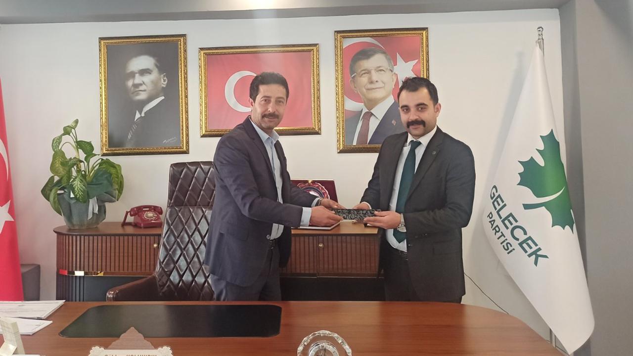 Gelecek Partisi Kırşehir yönetiminden, Yenimahalle İlçe Başkanlığı'na ziyaret