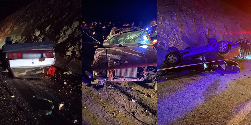 Nallıhan'da kontrolden çıkan otomobil takla attı
