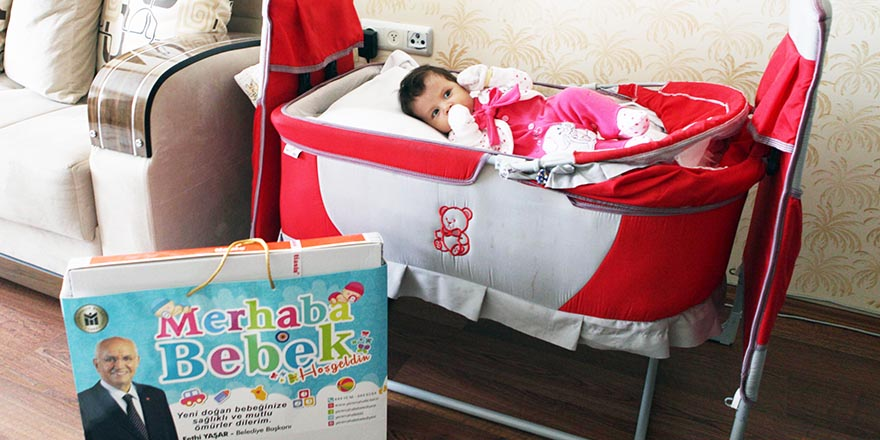 Yenimahalle'den 5 bin yeni doğan bebeğe doğum hediyesi