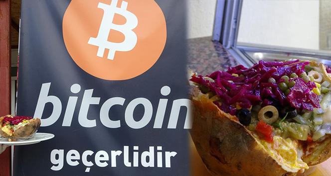 Bitcoin karşılığında kumpir satışı başladı
