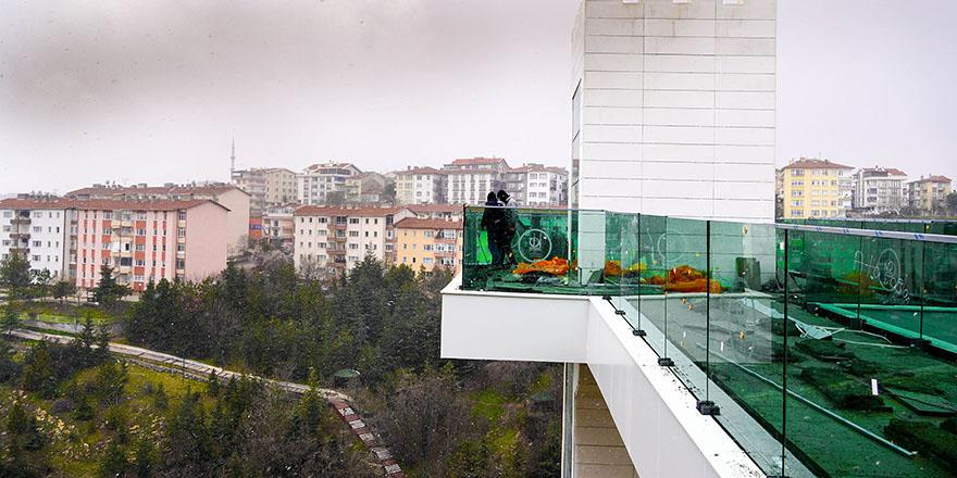 Keçiören'de 25 metrelik panoramik asansör hizmete açılıyor