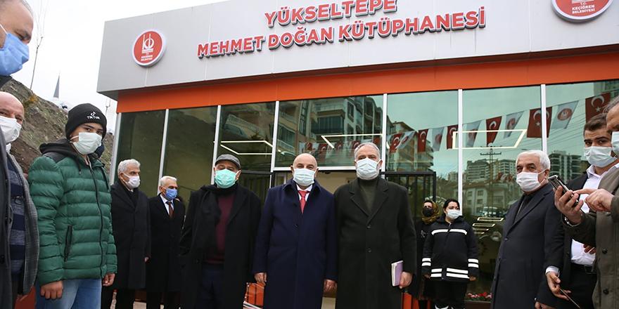 Keçiören Yükseltepe'ye Mehmet Doğan Kütüphanesi açıldı