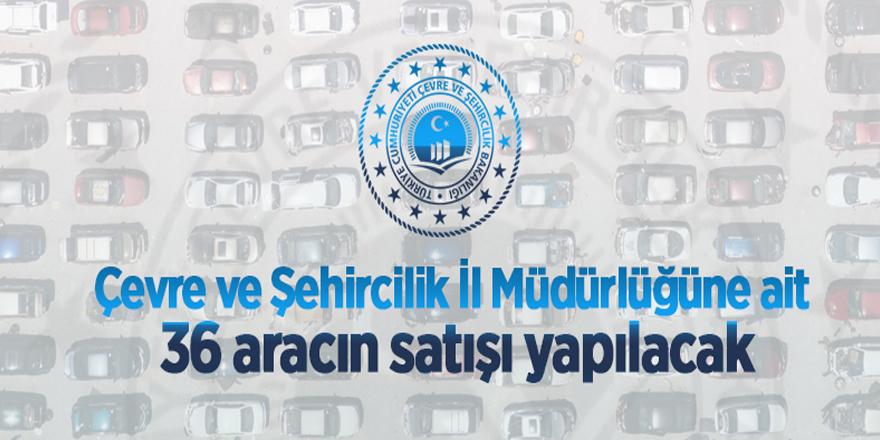 Edirne Çevre ve Şehircilik İl Müdürlüğü araç satışı yapacak