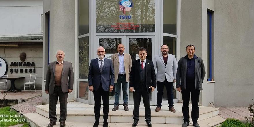 AASKF, TSYD Ankara Şubesi Başkanı Ercan Ata'yı ziyaret etti