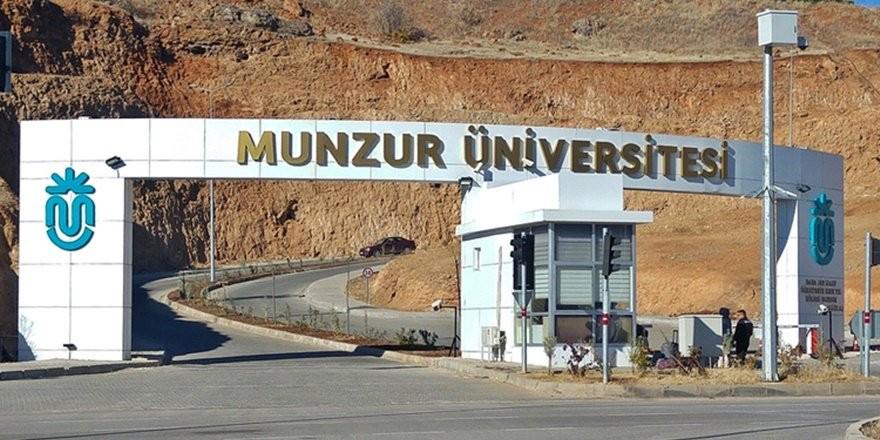 Munzur Üniversitesi 12 öğretim üyesi alacağını açıkladı