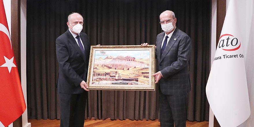 Arnavutluk Büyükelçisi Robo'dan, ATO Başkanı Baran'a ziyaret