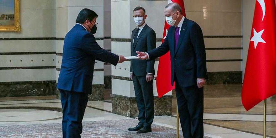 Cumhurbaşkanı Erdoğan, Şili Büyükelçisi Castro'yu kabul etti