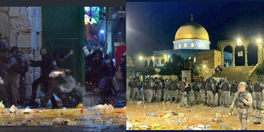 İsrail Mescid-i Aksa'da terör estirdi