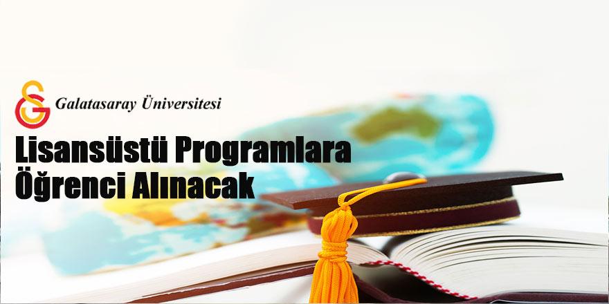 Lisansüstü programlara öğrenci alınacaktır