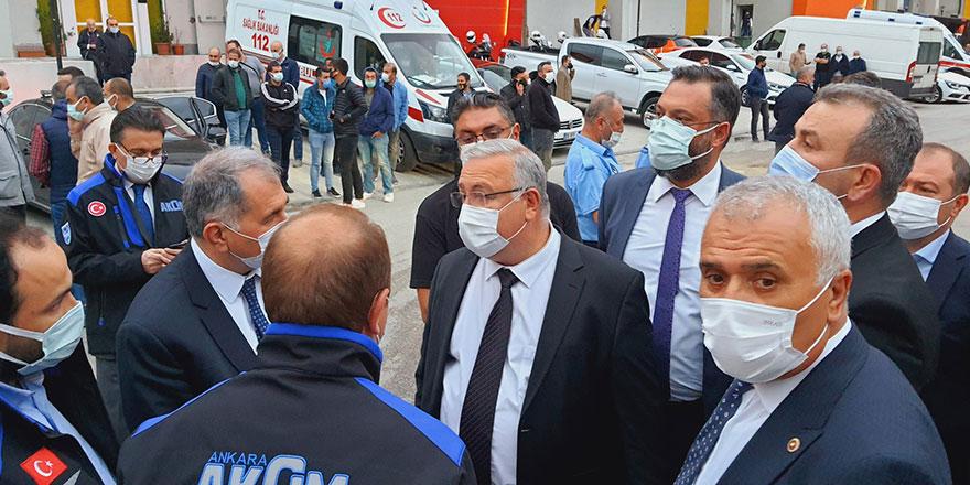 CHP'li Akıllı yangının çıktığı ATB İş Merkezi'nde İncelemelerde Bulundu