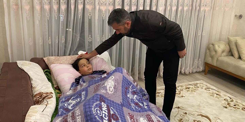 Başkan Çetin'den geçmiş olsun ziyareti