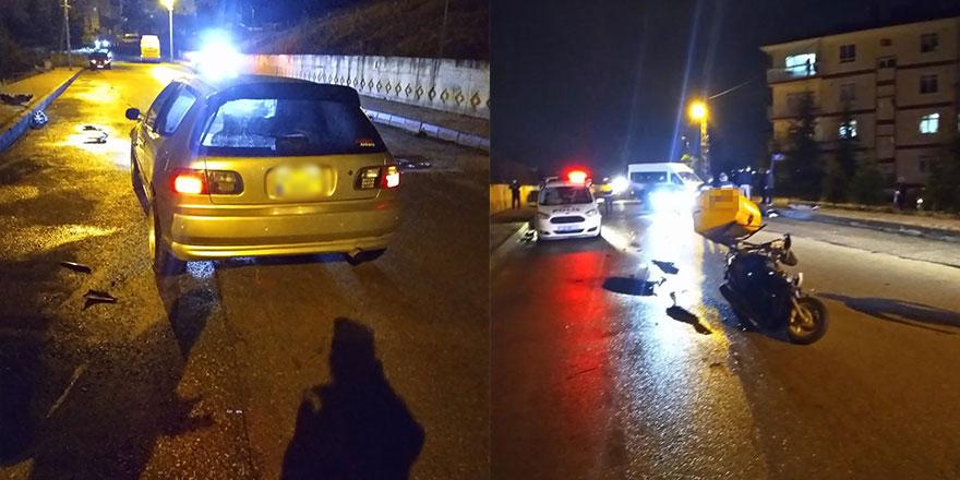 Ankara'da otomobil ile motosiklet çarpıştı