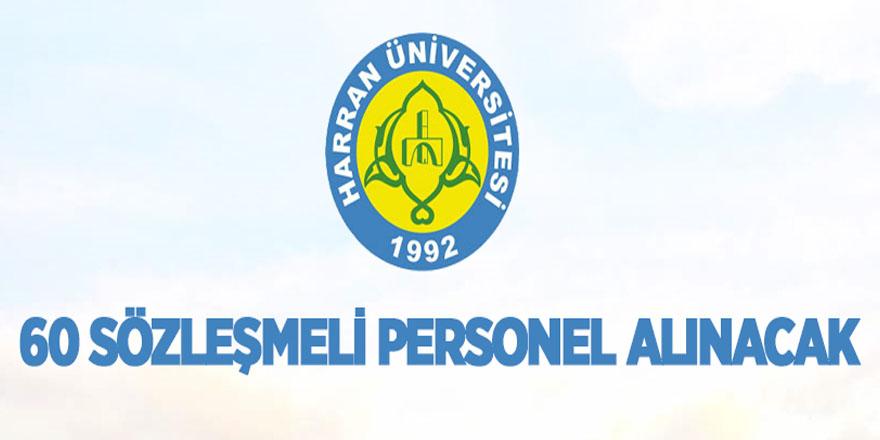 Harran Üniversitesi sözleşmeli personel alıyor