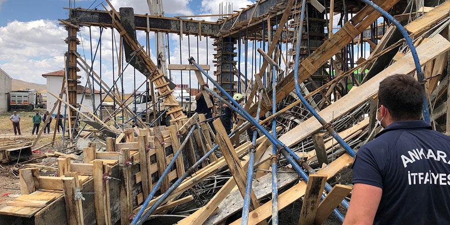 Başkent'te inşaatta göçük