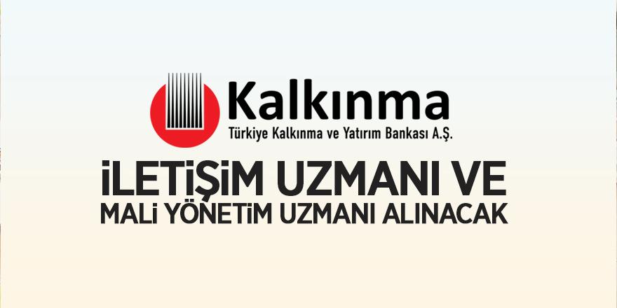 Türkiye Kalkınma ve Yatırım Bankası bireysel danışman alıyor