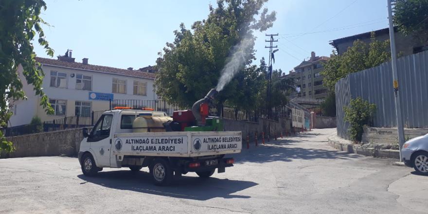 Altındağ sokakları temizleniyor