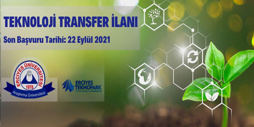 Erciyes Üniversitesinde teknoloji transfer ilanı