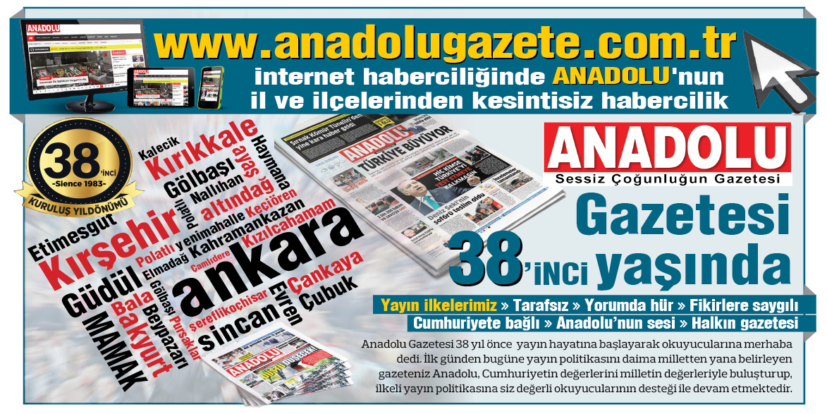 ANADOLU Gazetesi 38. Yaşında