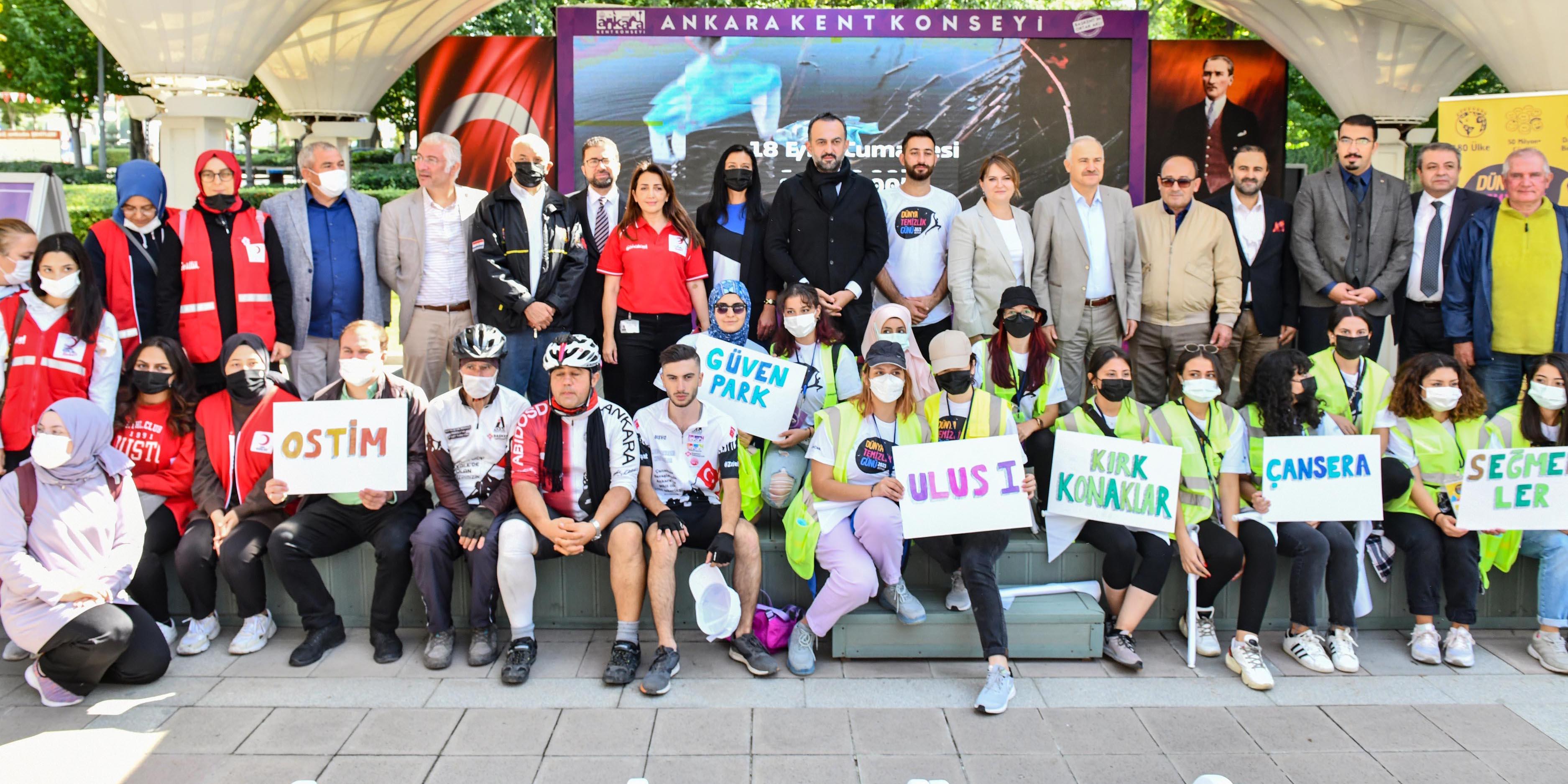 """Başkent'te """"Dünya Temizlik Günü"""" etkinliği"""