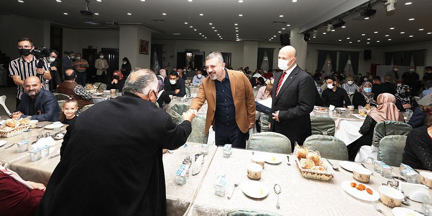 Başkan Ercan gaziler ve aileleriyle buluştu