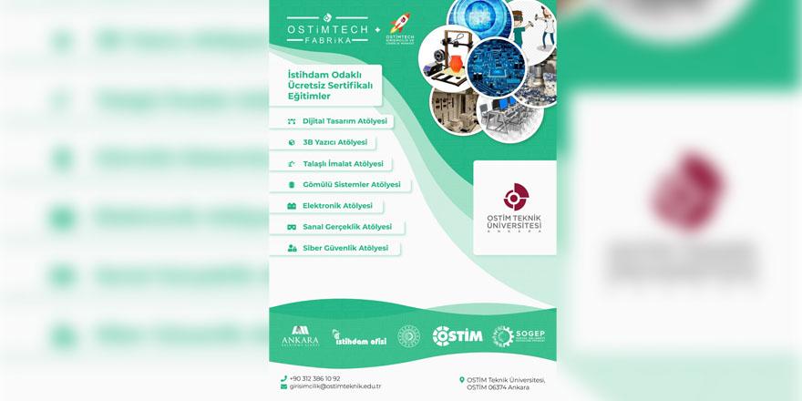 OSTİMTECH Fabrika'dan istihdam odaklı ücretsiz eğitimler