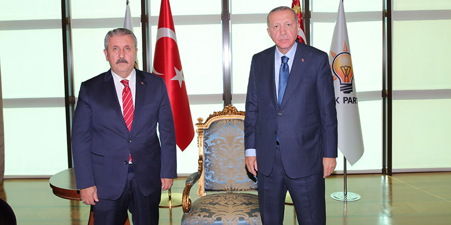 Erdoğan, BBP Genel Başkanı Destici'yi kabul etti