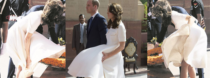 Kate Middleton yine eteğiyle gündem oldu