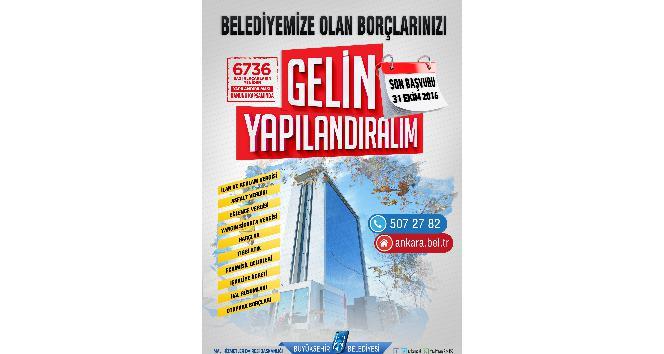 Ankara Büyükşehir vatandaşın borcunu yapılandırıyor