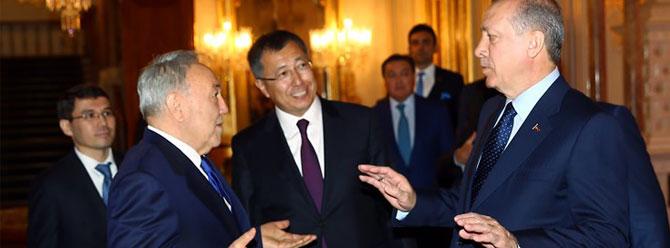 Erdoğan ve Nazaryev el ele