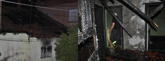 Eve geç gelen sevgilisine kızıp evi yaktı!